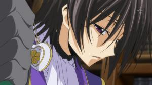 ...Lelouch notices something.