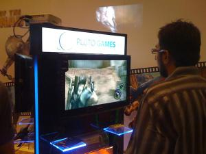 The Resident Evil 5 booth