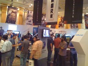 Sony's booth in the middle of the show floor