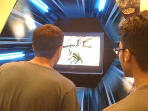 The Wipeout HD booth...