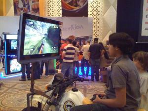 ...behind which was the Motorstorm booth...