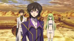 Suzaku and C.C join in on the action too.