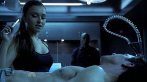 ...indulging in her sadistic fetishes.